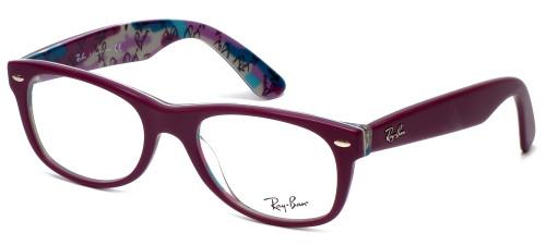 Ray-Ban Designer Eyeglasses RB5184-5408 in Purple 50mm :: Custom Left & Right Lens