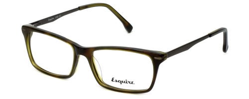 Esquire Designer Eyeglasses EB1500 in Olive-Tortoise 53mm :: Custom Left & Right Lens