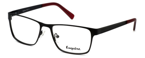 Esquire Designer Eyeglasses EQ1502 in Satin-Black 54mm :: Custom Left & Right Lens