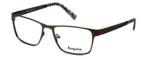 Esquire Designer Eyeglasses EQ1502 in Satin-Pewter 54mm :: Custom Left & Right Lens