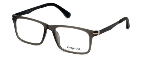 Esquire Designer Eyeglasses EQ1504 in Matte-Grey-Smoke 53mm :: Custom Left & Right Lens
