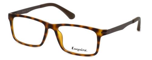 Esquire Designer Eyeglasses EQ1504 in Matte-Tortoise 53mm :: Custom Left & Right Lens