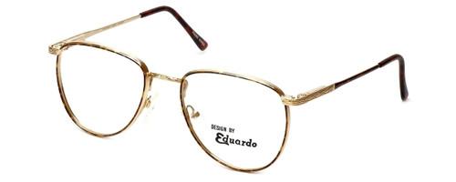 Regency Designer Eyeglasses Dover in Gold-Amber 52mm :: Custom Left & Right Lens