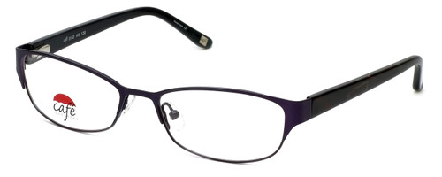 Silver Dollar Designer Eyeglasses Café 3152 in Violet 52mm :: Custom Left & Right Lens