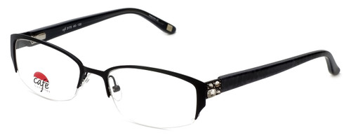 Silver Dollar Designer Eyeglasses Café 3175 in Caviar 51mm :: Custom Left & Right Lens
