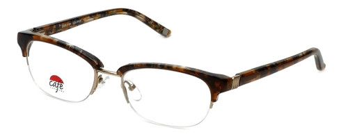 Silver Dollar Designer Eyeglasses Café 3194 in Caramel 52mm :: Custom Left & Right Lens