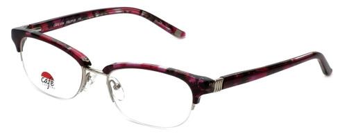 Silver Dollar Designer Eyeglasses Café 3194 in Fuschia Marble 52mm :: Custom Left & Right Lens