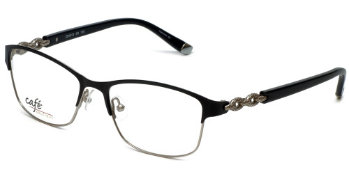 Silver Dollar Designer Eyeglasses CB1013 in Tuxedo 52mm :: Custom Left & Right Lens