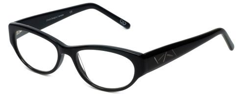 Cinzia Designer Eyeglasses CBR05 in Black 50mm :: Custom Left & Right Lens