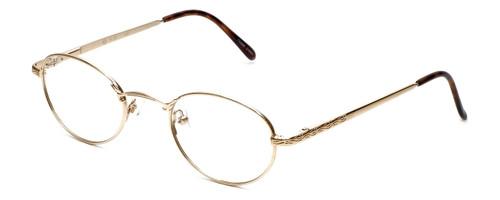 Flex Collection Designer Eyeglasses FL-30 in Gold 48mm :: Custom Left & Right Lens