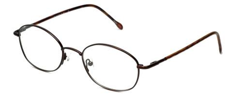 FlexPlus Collection Designer Eyeglasses Model 82 in Ant-Brown 50mm :: Custom Left & Right Lens