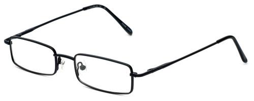FlexPlus Collection Designer Eyeglasses Model 112 in Black 48mm :: Custom Left & Right Lens