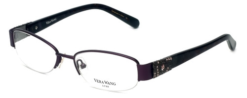 Vera Wang Designer Eyeglasses Tomi in Amethyst 49mm :: Custom Left & Right Lens