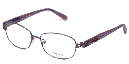 Vera Wang Designer Eyeglasses Volans in Orchid 55mm :: Custom Left & Right Lens