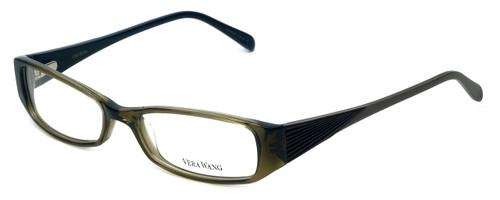 Vera Wang Designer Eyeglasses V024 in Olive 52mm :: Custom Left & Right Lens
