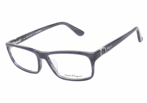 Salvatore Ferragamo Designer Eyeglass Collection SF2608 in Blue Horn :: Rx Single Vision