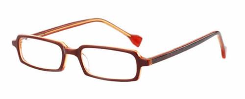 Ink Eyeglasses Contour in Burgundy Amber :: Rx Single Vision