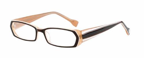 Ink Eyeglasses Duotone in Brown :: Rx Single Vision
