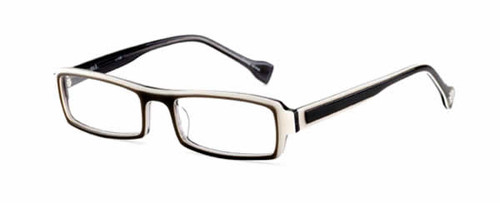 Ink Eyeglasses Highlight in Grey White :: Rx Single Vision