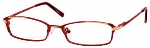 Marc Hunter 7213 in Burgundy-Gold Designer Eyeglasses :: Rx Single Vision