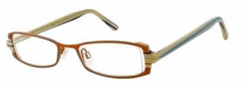 Valerie Spencer 9120 in Tangerine Designer Eyeglasses :: Rx Single Vision