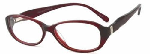 Valerie Spencer 9236 in Burgundy Designer Eyeglasses :: Rx Single Vision