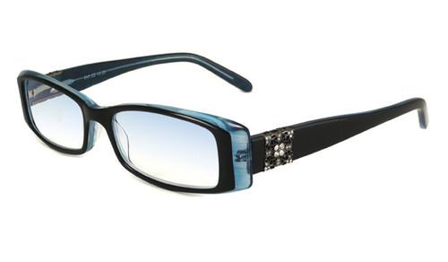 Calabria 840 Dazzles Crystals Eyeglasses in Blue :: Rx Single Vision