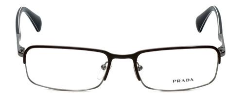 Prada Rx Designer Reading Glasses VPR61Q in Black/Brown & Gun-Metal