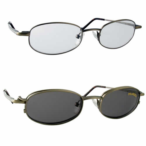 Magnetic Clip-On 210 Polarized Reading Sunglasses :: Rx Single Vision