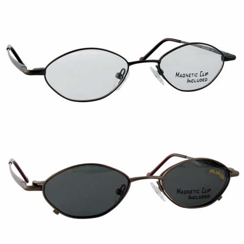 Magnetic Clip-On 229 Polarized Reading Sunglasses :: Rx Single Vision
