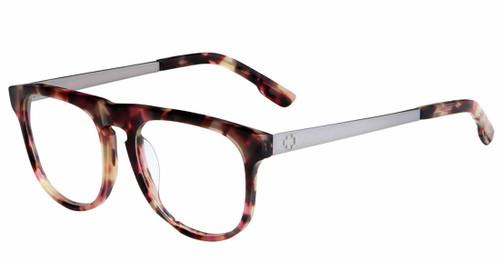 Spy+ Rx Designer Eyeglasses Maxwell in Cherrywood & Gun-Metal :: Rx Single Vision