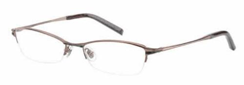 Jones New York Designer Eyeglasses J434 Brown-Emerald :: Rx Single Vision