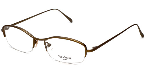 Vera Wang Designer Eyeglasses Catherine 2 in Gold-Bronze :: Rx Single Vision