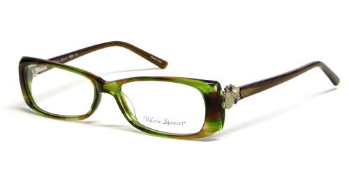 Valerie Spencer 9266 in Tea Designer Eyeglasses :: Rx Single Vision