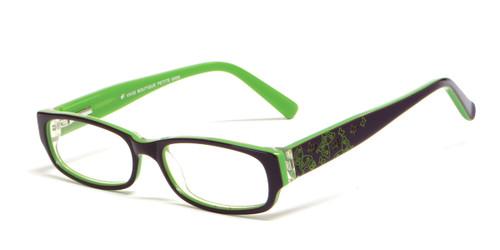 Calabria Viv Kids 6005 Designer Eyeglasses in Brown & Green :: Rx Single Vision