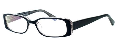 Moda Vision 8004 Designer Eyeglasses in Black :: Rx Single Vision