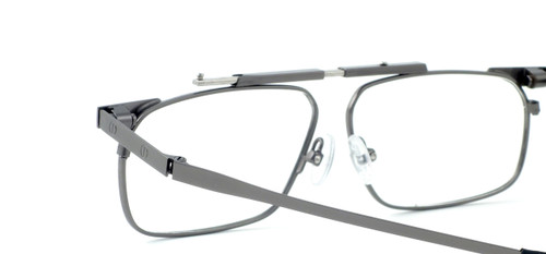 Calabria FAST-FOLD Metal Folding Eyeglasses w/ Case in Pewter :: Rx Single Vision