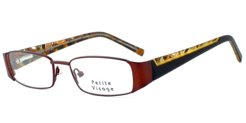 Visage Petite Designer Eyeglasses 100 in Brown :: Rx Single Vision
