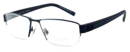 OGA Designer Eyeglasses 7922O-BN051 in Black & Blue :: Rx Single Vision