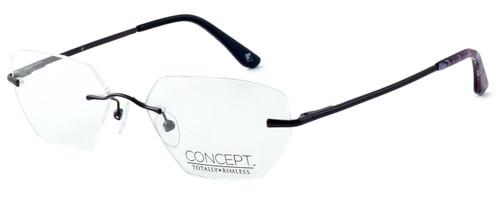 Totally Rimless Designer Eyeglasses TR161-PPL in Purple :: Rx Single Vision