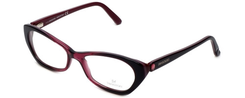 Swarovski Designer Eyeglasses Cydney SK5067-071 in Purple Black :: Rx Single Vision