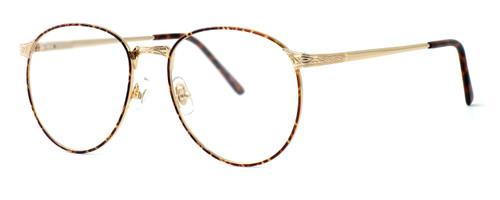 Fashion Optical Designer Eyeglasses E788 in Gold Amber 51mm :: Rx Single Vision