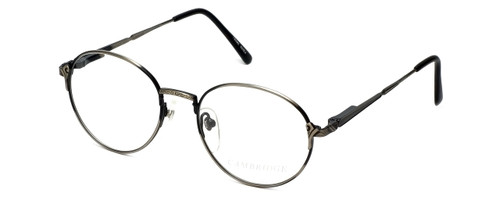Regency Designer Eyeglasses Cambridge in Antique Silver 52mm :: Rx Single Vision