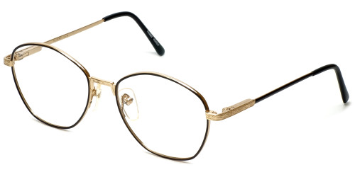 Regency Designer Eyeglasses Yale in Gold-Black 52mm :: Rx Single Vision