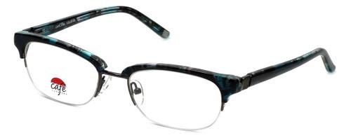Silver Dollar Designer Eyeglasses Café 3194 in Teal Marble 52mm :: Rx Single Vision