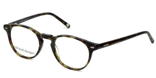Silver Dollar Designer Eyeglasses CLD-9143 in Green Tortoise 48mm :: Rx Single Vision