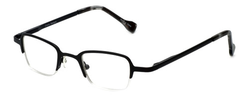 Cinzia Designer Eyeglasses Fine Print 01 in Black 44mm :: Rx Single Vision