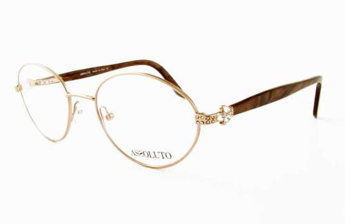 Assoluto Designer Eyeglasses EU58 in Brown-Marble :: Progressive