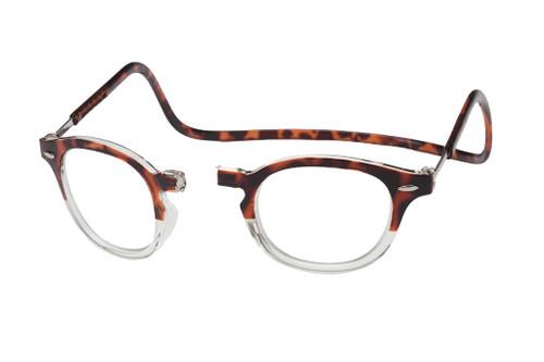 8c598c6422 Clic Designer Eyeglasses Vintage Style in Demi-Tortoise Clear    Progressive
