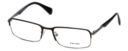 Prada Designer Eyeglasses VPR61Q in Black-Brown & Gun-Metal :: Progressive